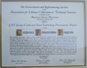 CPP ALA award 2011
